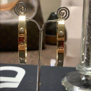 Jewelry - Love hoop earrings
